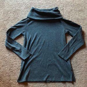 Rafaella: Charcoal Gray Cowl Neck Sweater